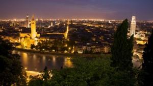Panorama di Verona, torri e campanili