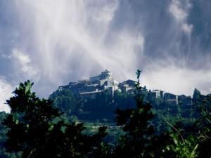 Vista da basso di Capranica Prenestina
