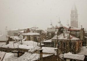 Nevicata su Venezia