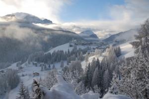 Neve fresca su Colle Santa Lucia