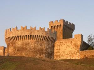 Tramonto sul Castello di Populonia