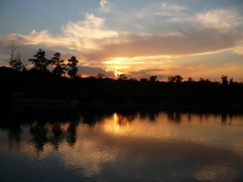 Trezzo sull'Adda - tramonto sulla centrale idroelettrica