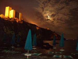 Talamone - La Rocca al chiaror di luna