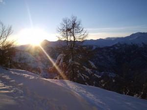 tramonto sulla valsessera dalla bocchetta di Margosio