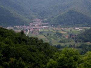 panorama di Caraglio dall'alto