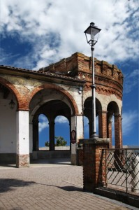 Particolare del castello di Moncalvo
