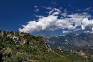 "Panorama Ruderi Gessopalena "" Sfondo Maiella """