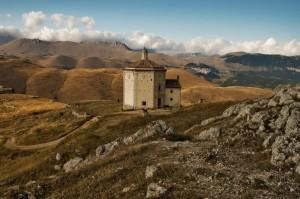 Tramonto e Notte Rocca Calascio ( panorama Castel del Monte )