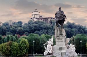 Torino-veduta del monte dei Cappuccini