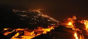 Panorama notturno dalla Torre di Guardia Piemontese