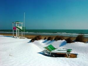 Iesolo, il mare d'inverno
