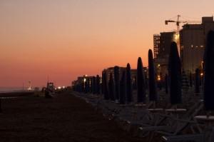 Spiaggia di Jesolo al tramonto