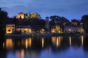 Torino - panoramica completa del Borgo Medioevale