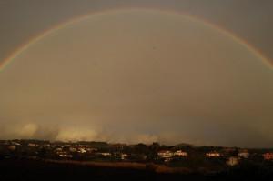 arcobaleno sui castelli romani