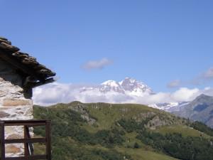 Il Monte Rosa dall'alpe Meggiana
