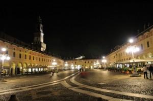 La torre del Bramante e la piazza ducale