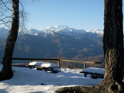 Borgosesia - Laggiù il Monte Rosa...
