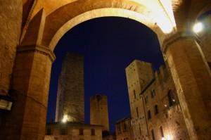 San Gimignano, notturno