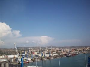 Civitavecchia vista dal porto