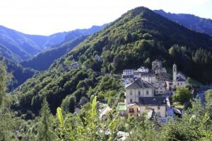 Veduta di Cervatto, Val Mastallone, Val Sesia, Piemonte