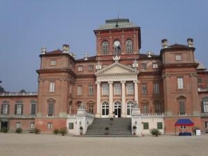 castello Racconigi,di fronte
