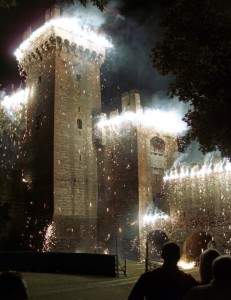 Montagnana: l'incendio della Rocca