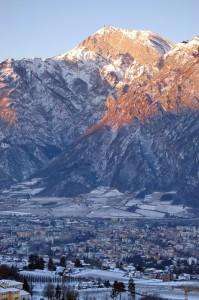 Trento con la sua Montagna