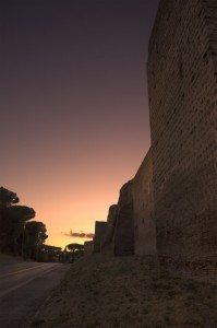 la sera a Viale di Porta Ardeatina
