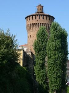 """Il """"Torrione""""  del Castello Visconteo di Lodi"""