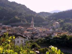 Panorama del centro di Vezzano