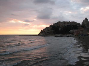 ultimo sorriso del sole su Porto Maurizio