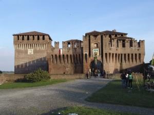 Castello di Soncino al tramonto, Cremona, Lombardia