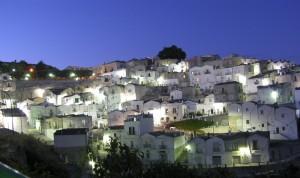 Panorama di lanterne bianche