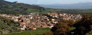Bortigali, panoramica del magnifico paese del centro Sardegna.