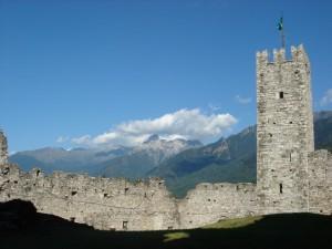 Muri perimetrali castello di breno