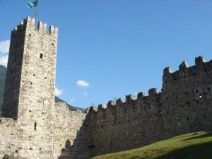 La torre del castello di breno