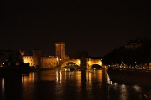 Verona - il merlato ponte scaligero