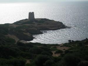 Torre Spagnola sulla costa Teulada