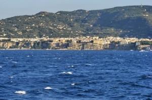 Panorama di Sorrento dal mare