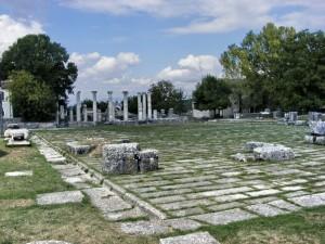 Saepinum vista del foro e della basilica