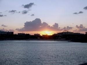 il tramonto sulla guitgia