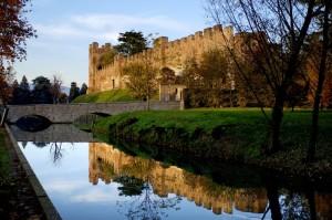 tramonto su castello