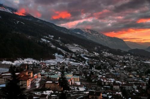 Trento - Un tramonto Invernale