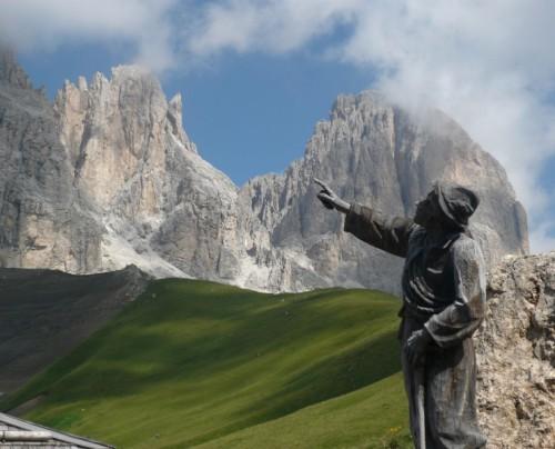 Campitello di Fassa - Il Gruppo del Sasso Lungo da Col Rodella