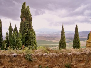 Montepulciono : Panorama dalle mura