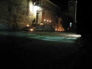 Fortezza di Bardi, giardino interno notturno