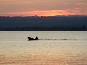 Lago di Bolsena al tramonto