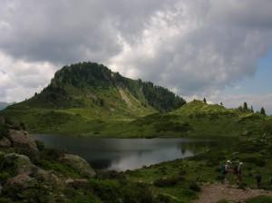 Lago delle Buse imbronciato - Lagorai