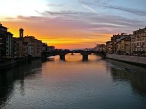 Vista di Firenze da Ponte Vecchio