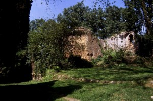 ruderi del castello, Oasi Ninfa, comune di Cisterna di Latina